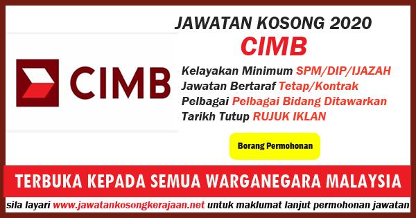 jawatan kosong CIMB BANK 2020