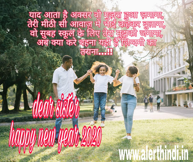 HAPPY NEW YEAR 2020 SISTER SHAYARI WISHES
