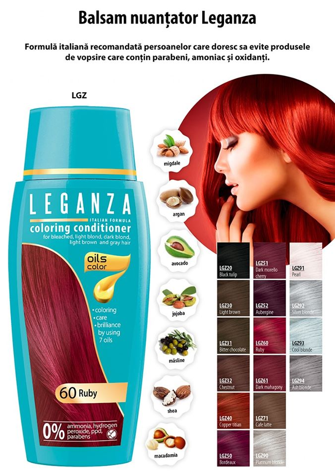 Vopsire şi îngrijire păr fără amoniac, fără oxidanţi, fără parabeni