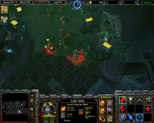 Second Red Rune Location Screenshot   The Dungeons of Dalaran Mission 11   Warcraft 3: The Frozen Throne