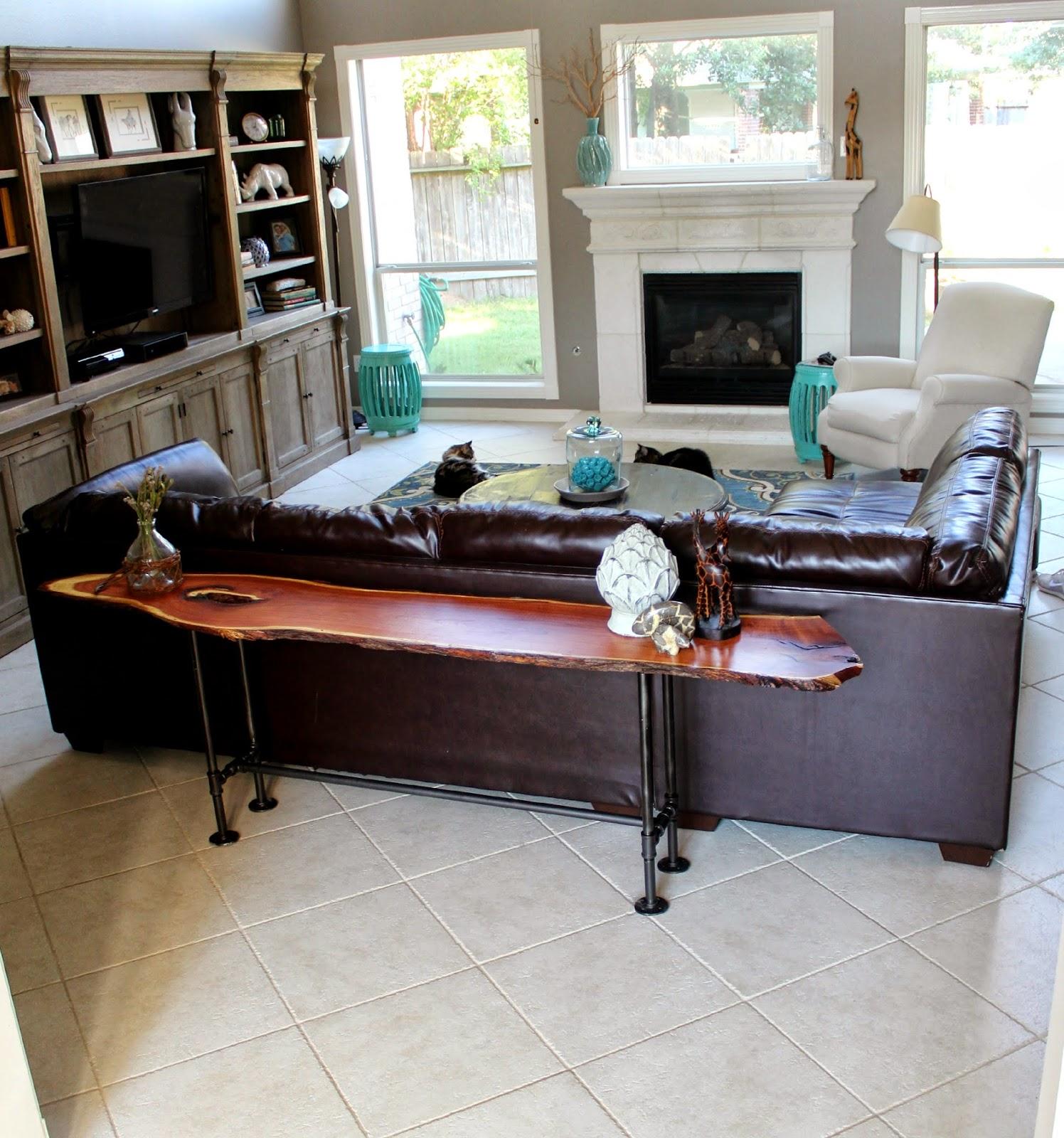 The Alexander Collective Diy Industrial Cabin Sofa Table