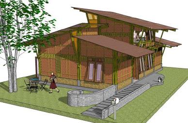 Tips Desain Rumah Bambu