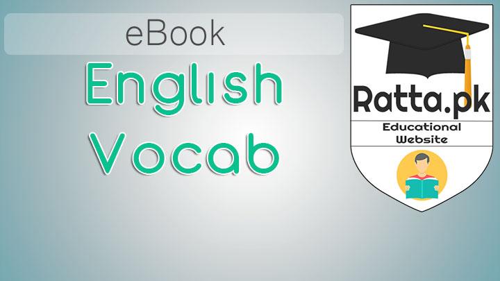 English to Urdu vocabulary book pdf Free Download