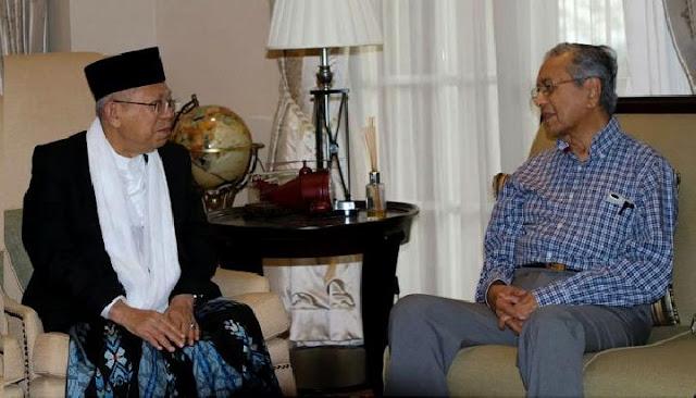 Mahathir Mohamad Doakan Jokowi - Ma'ruf Amin Menang Pilpres 2019