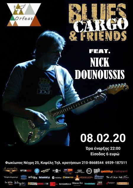 BLUES CARGO feat. NICK DOUNOUSSIS: Σάββατο 8 Φεβρουαρίου @ Ορφέας