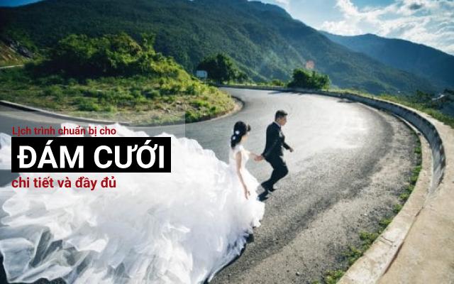 Lịch trình chuẩn bị cho đám cưới chi tiết và đầy đủ