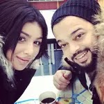 Ayesha Takia with her husband