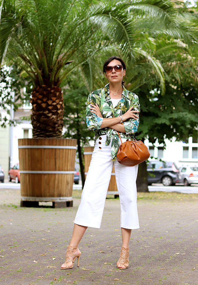 bluzka koszula liscie palmy reserved