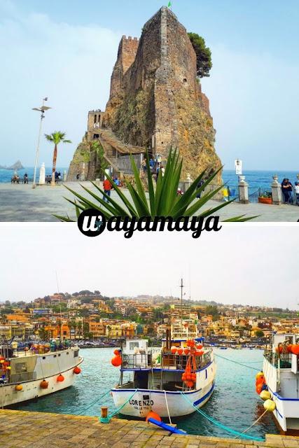 Aci Castello Castello Normanno (Norman Castle) and Aci Trezza marina | Sicily, Italy | wayamaya