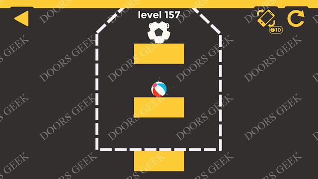 Ball & Ball Level 157 Solution, Walkthrough, Cheats for android and ios