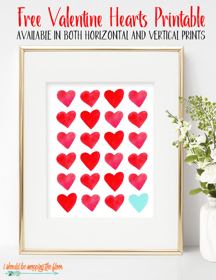 graphic relating to Printable Valentine Hearts called Valentines Centre Printable i really should be mopping the flooring