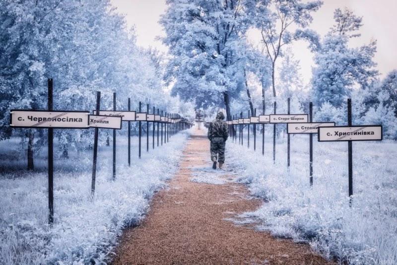 Таблички сіл у Чорнобильській зоні