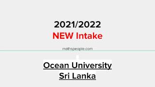 Ocean University Academic Year 2021/2022 New Intake