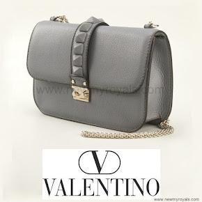 Crown Princess Victoria carrie Valentino Gray Glam Lock Shoulder Bag
