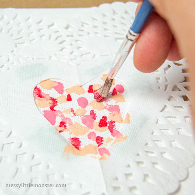 heart painting craft