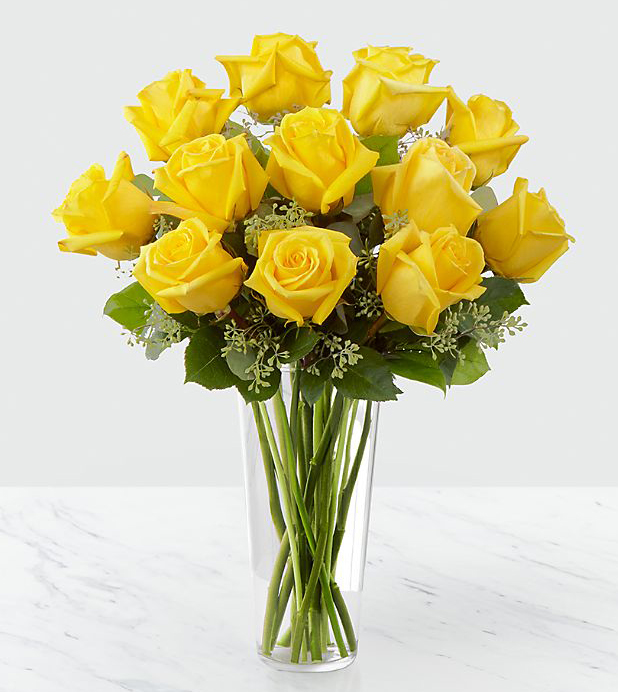 gambar bunga mawar kuning indah buket