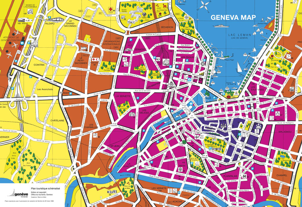 Map of Geneva, Switzerland