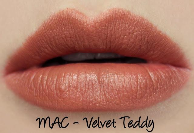 MAC The Matte Lip 2015 - Velvet Teddy Lipstick Swatches & Review