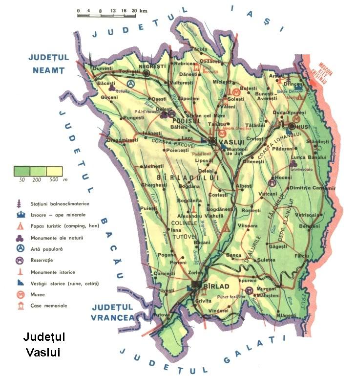 Harta Barlad Judetul Vaslui Harta
