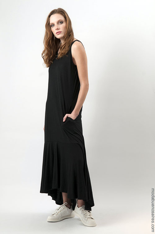 Vestidos largos moda mujer verano 2018. Ropa de moda 2018.
