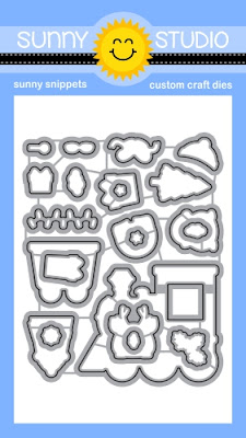 Sunny Studio Stamps: Holiday Express Christmas Critters with Train Metal Cutting Dies