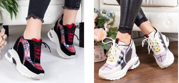 Sneakersi Laraib in diferite culori cu platforma