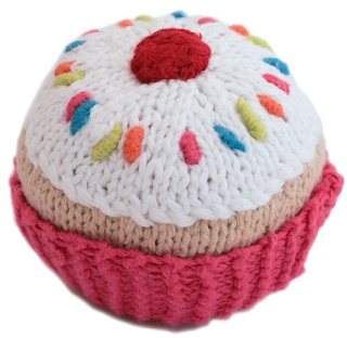 Cupcake Rattle from Baby Moon & Farthing