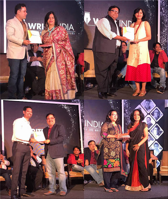 Write India book launch winners Sutapa Basu Kena Shree Ramya Vivek Tishampati Sen