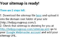 google sitemap create