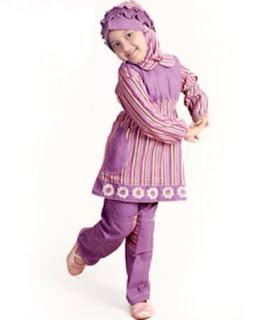 Baju muslim anak perempuan modis