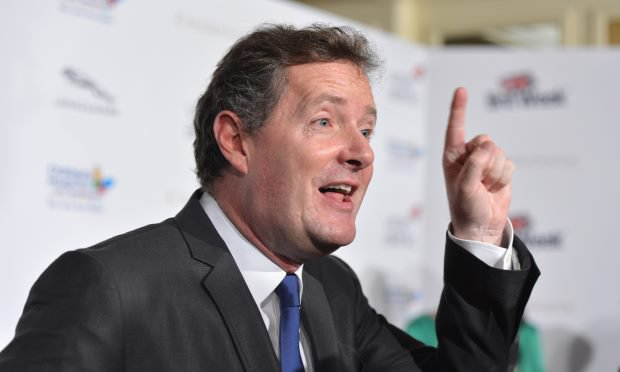 Piers Morgan is upset about a lewd image of him and Donald Trump shown on BBC 2