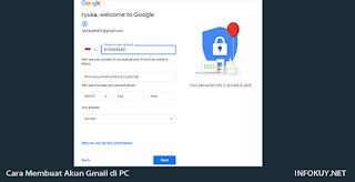 Cara Membuat akun Gmail di PC #3