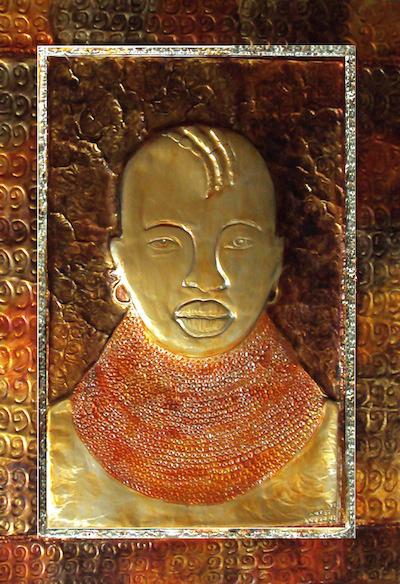 Metal Wall Art Decor & ART by INJETE: Metal Wall Art Decor: Paintings of African Women Turkana