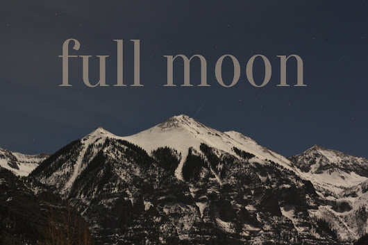 Full moon in the valley