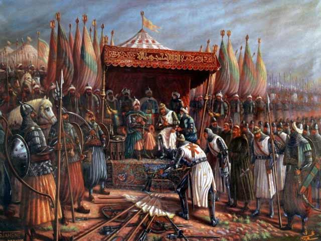 Saladin accepts Latin surrender Byzantium.filminspector.com