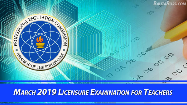List of Passers: March 2019 Secondary Licensure Examination for