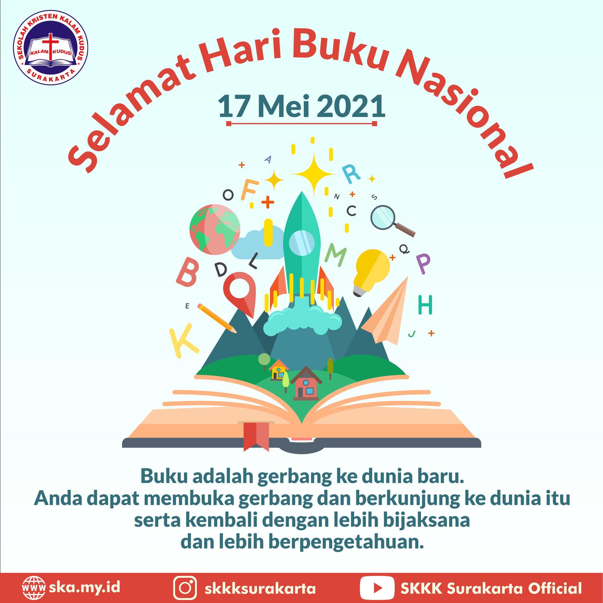 Selamat Hari Buku Nasional 2021