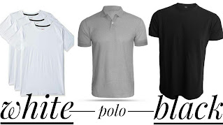Different types of t-shirts are shown