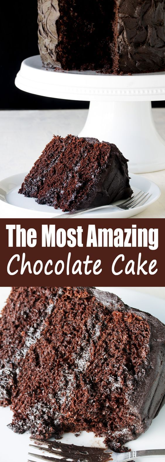 The Most Amazing Chocolate Cake is here. I call this my Matilda Cake because I swear it's just as good as the cake that Bruce Bogtrotter ate in Matilda. Moist, chocolatey perfection. This is the chocolate cake you've been dreaming of.