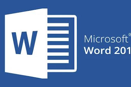 Bagian-bagian Lembar Kerja Microsoft Word 2016