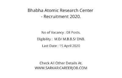 BARC Vacancy 2020   Officer Posts Vacancy BARC Apply Online 2020.