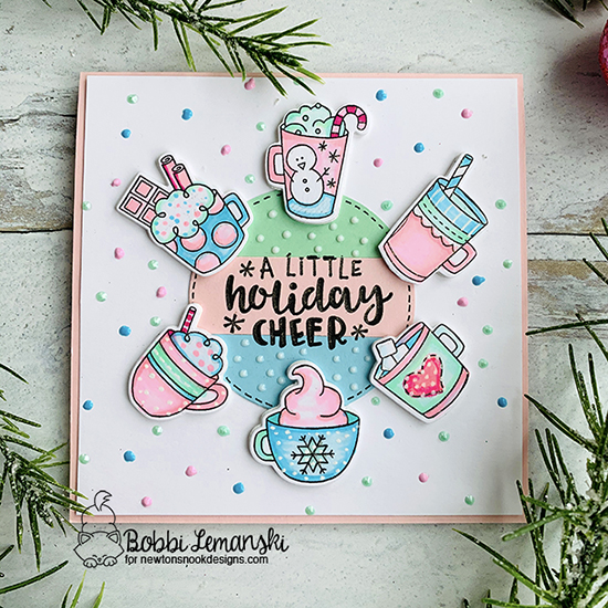 A little holiday cheer by Bobbi features Cup of Cocoa and Ornamental Wishes by Newton's Nook Designs; #newtonsnook