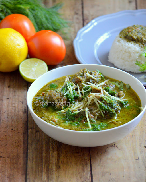 Palak Gosht ~ Palak Mutton ~ Indian Style Spinach & Mutton Curry