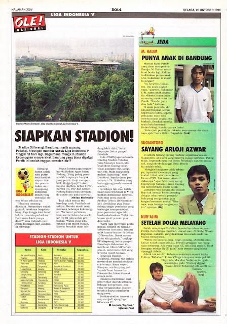 LIGA INDONESIA V SIAPKAN STADION