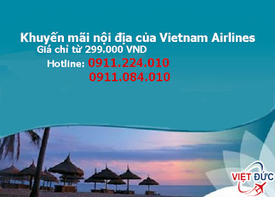 khuyến mãi nội địa của Vietnam Airlines giá chỉ 299.000 đồng