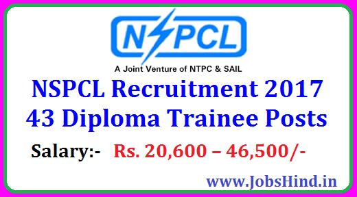 Nspcl Recruitment 2017