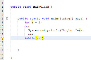 contoh do while di java 2
