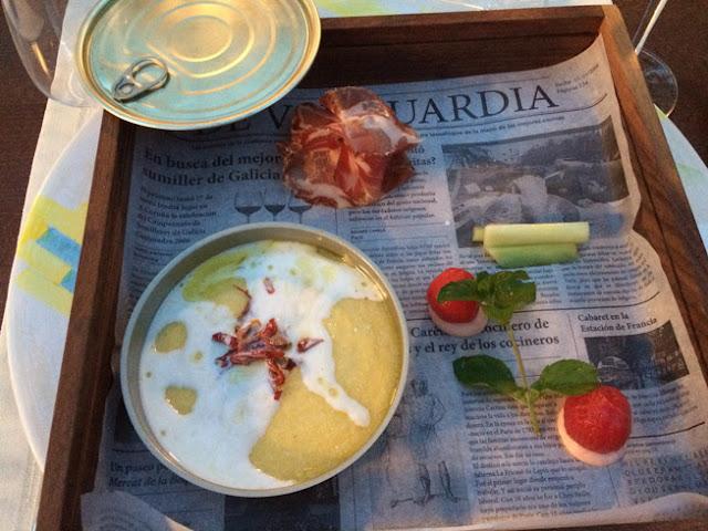 Menú degustación en Bodega Saksida. Entrantes,  www.caravaneros.com