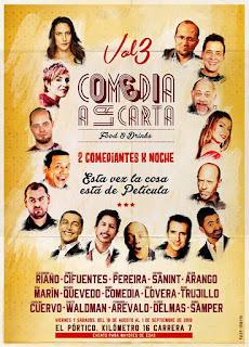 Poster Festival COMEDIA A LA CARTA 2018 VOL. 3