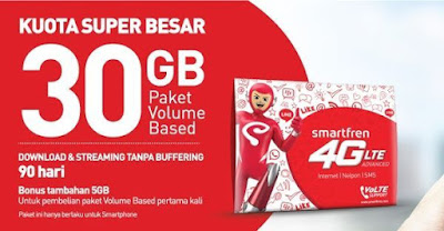 Layanan Kuota Smartfren 4G Booster Internet Unlimited